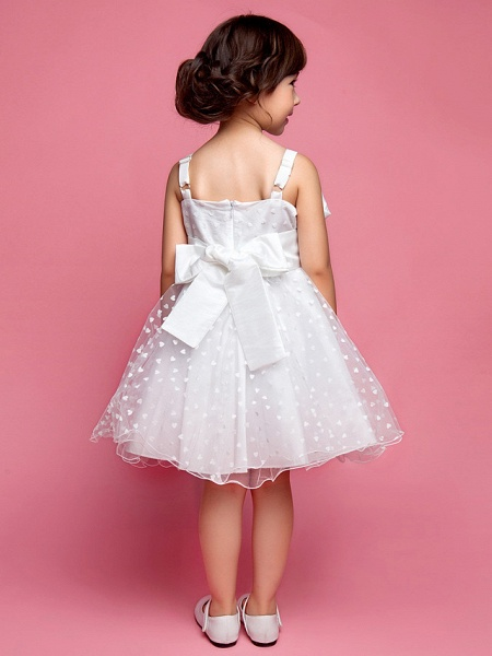 Princess / A-Line Knee Length Wedding Party Cotton / Polyester Sleeveless Spaghetti Strap With Lace / Flower / Spring / Summer / Fall_3