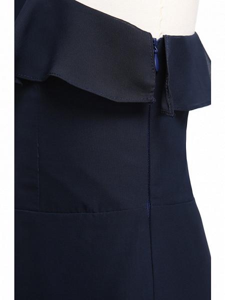 A-Line One Shoulder Floor Length Chiffon Junior Bridesmaid Dress With Ruffles / Natural_7