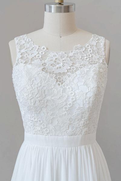 SD1960 Straps Lace A-line Boho Wedding Dress_2