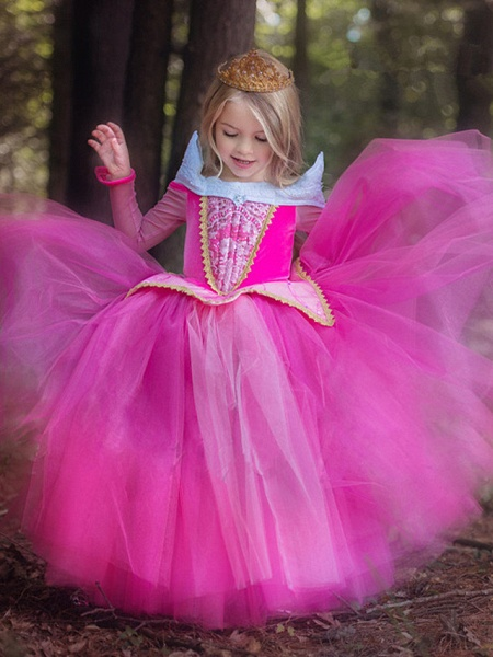 Ball Gown Floor Length Wedding / Party Flower Girl Dresses - Tulle Sleeveless Jewel Neck With Solid_2