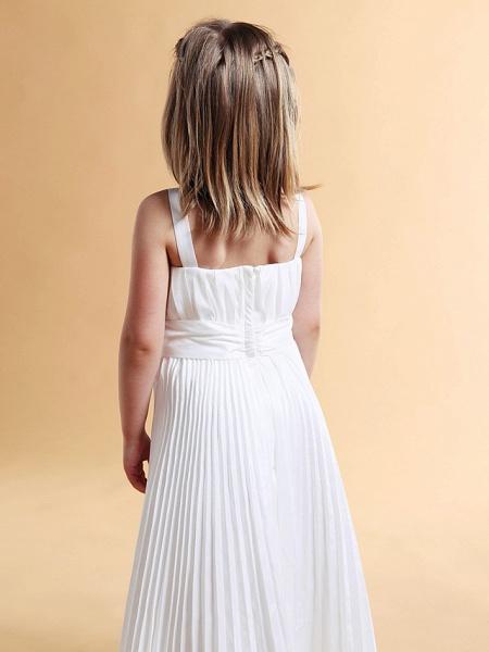 A-Line Square Floor-Length Taffeta Flower Girl Dress_5