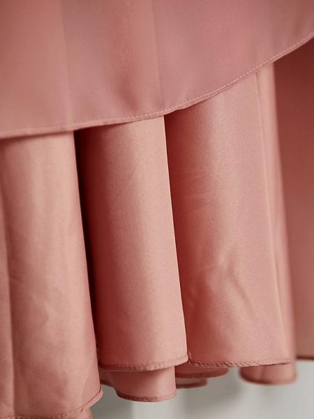 A-Line V Neck Maxi Chiffon Junior Bridesmaid Dress With Pleats / Ruching_13