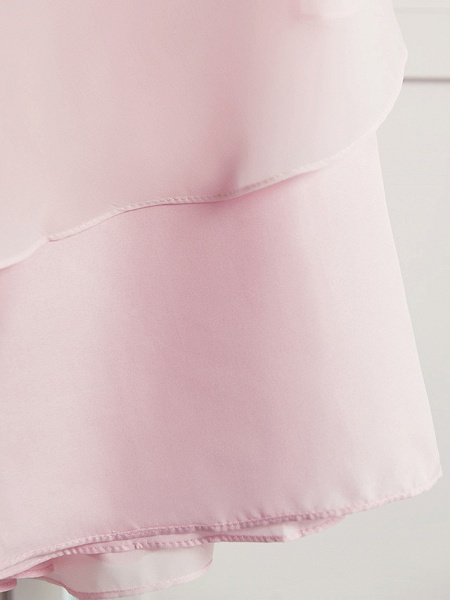 A-Line Floor Length Wedding / Party Flower Girl Dresses - Satin / Tulle Sleeveless Square Neck With Sash / Ribbon / Bow(S) / Solid_1