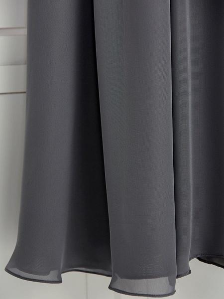 A-Line V Neck Maxi Chiffon Junior Bridesmaid Dress With Ruching_9