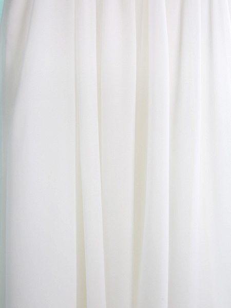 A-Line Short / Mini Wedding / First Communion / Holiday Flower Girl Dresses - Chiffon Sleeveless Jewel Neck With Lace / Pleats_5