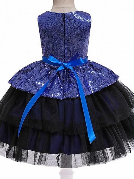 Ball Gown Floor Length Birthday / Formal Evening Flower Girl Dresses - Polyester Sleeveless Jewel Neck With Sash / Ribbon / Paillette_6