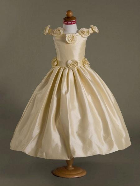 Ball Gown Off-The-Shoulder Floor-Length Taffeta Flower Girl Dress_1