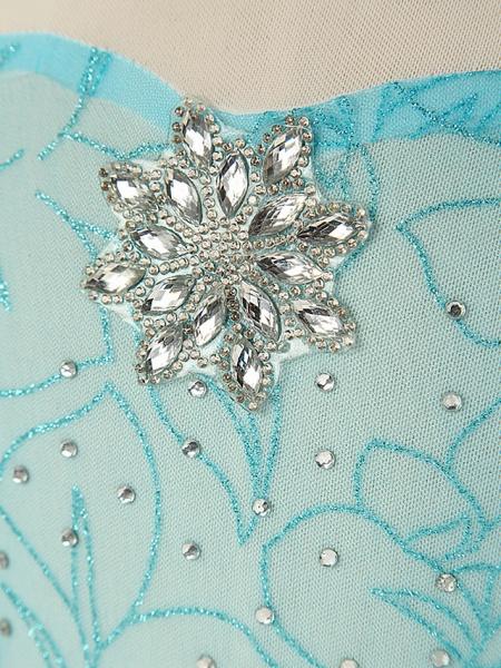 Sheath / Column Floor Length / Long Length Party / Birthday Chiffon / Tulle Long Sleeve Jewel Neck With Crystals / Splicing / Crystals / Rhinestones_6