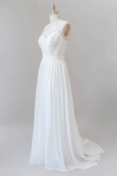SD1960 Straps Lace A-line Boho Wedding Dress_6