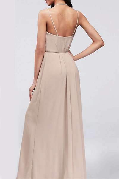 SD2004 Charming A-line Spaghetti Straps Bridesmaid Dresses With Slit_2