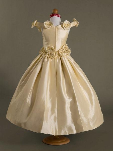 Ball Gown Off-The-Shoulder Floor-Length Taffeta Flower Girl Dress_3