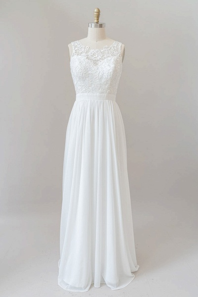 SD1960 Straps Lace A-line Boho Wedding Dress
