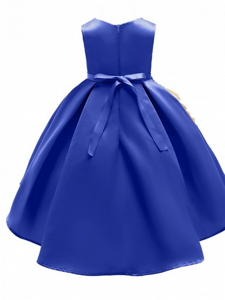 Ball Gown Ankle Length Pageant Flower Girl Dresses - Polyester Sleeveless Jewel Neck With Appliques_6