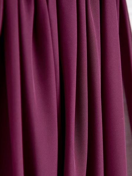 A-Line V Neck Maxi Chiffon / Lace Junior Bridesmaid Dress With Appliques_8