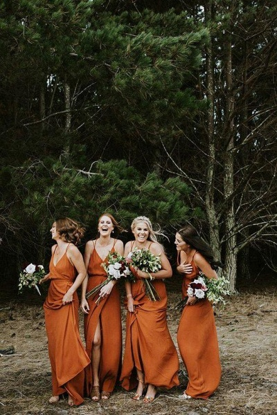 SD2004 Charming A-line Spaghetti Straps Bridesmaid Dresses With Slit_4