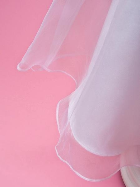 Princess / A-Line Floor Length Wedding Party Organza / Satin Sleeveless Jewel Neck With Sash / Ribbon / Buttons / Draping / Spring / Fall / Winter_7