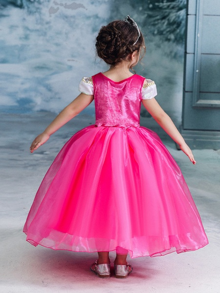Ball Gown Floor Length Wedding / Party Flower Girl Dresses - Tulle Sleeveless Jewel Neck With Solid_4