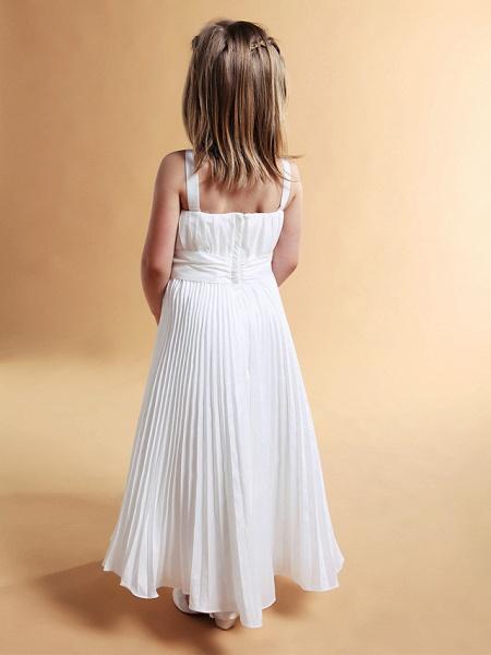 A-Line Square Floor-Length Taffeta Flower Girl Dress_4