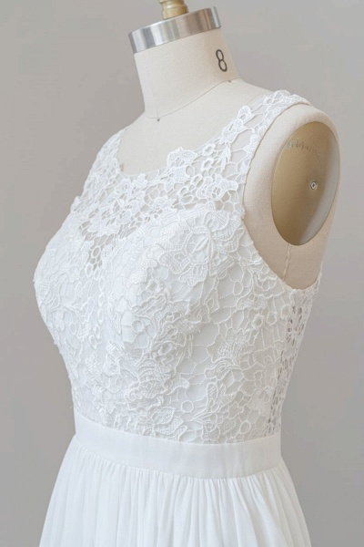 SD1960 Straps Lace A-line Boho Wedding Dress_5