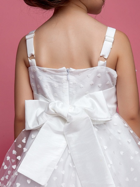 Princess / A-Line Knee Length Wedding Party Cotton / Polyester Sleeveless Spaghetti Strap With Lace / Flower / Spring / Summer / Fall_6