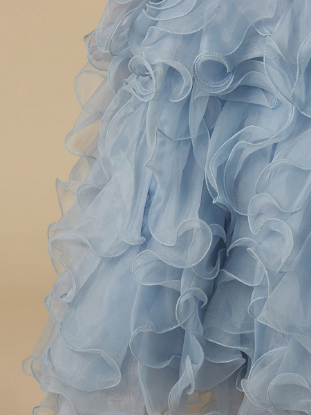 Ball Gown Floor Length Pageant Flower Girl Dresses - Organza / Satin Sleeveless Jewel Neck With Bow(S)_6