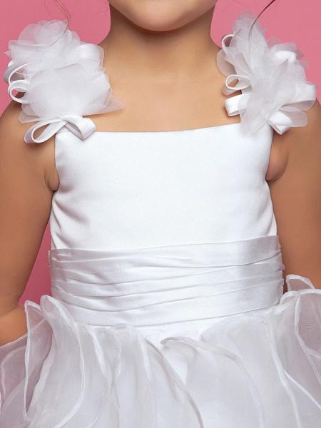 Princess / A-Line Floor Length Organza / Satin Sleeveless Straps With Sash / Ribbon / Ruched / Cascading Ruffles_6