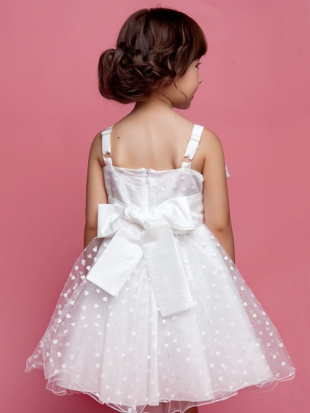 Princess / A-Line Knee Length Wedding Party Cotton / Polyester Sleeveless Spaghetti Strap With Lace / Flower / Spring / Summer / Fall_5