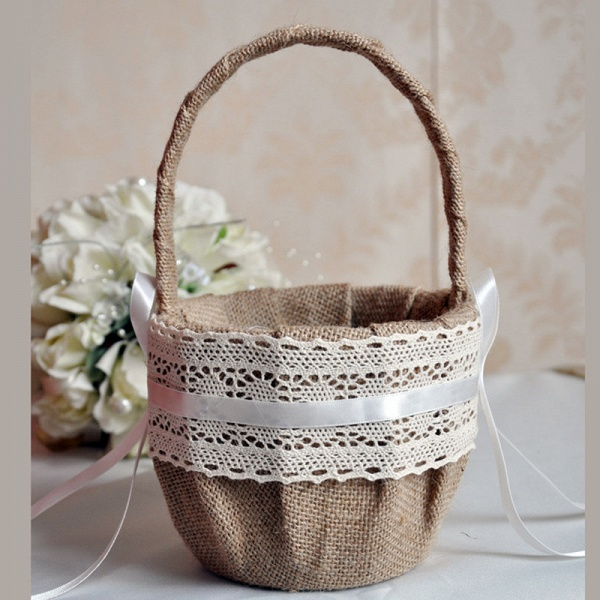 CPA2918 Flower Girl With Lace Flower Basket_2