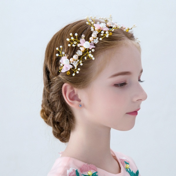 Flower Crystal Pearls Headbands