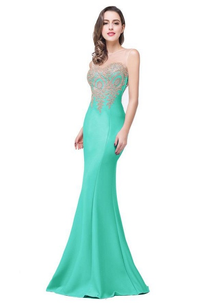 Mermaid Floor-Length Sheer Prom Dresses with Rhinestone Appliques_17