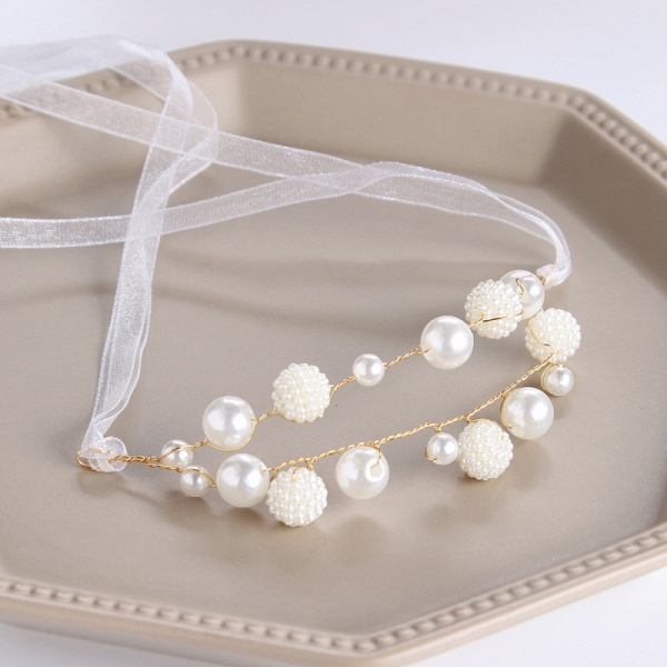 CPA2919 Pearls Ribbon Flower Girl Wristband_1