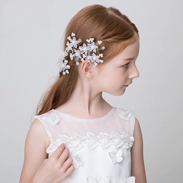 Pearls Crystal Flower Headbands_3