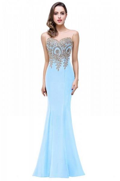 Mermaid Floor-Length Sheer Prom Dresses with Rhinestone Appliques_11