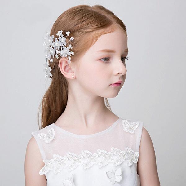 Pearls Crystal Flower Headbands_4
