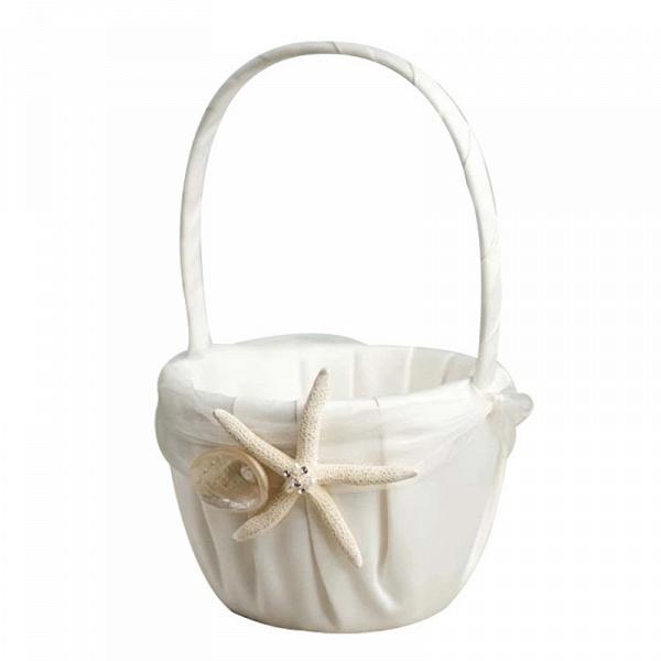 CPA2917 Flower Girl Bow Satin Flower Basket_2