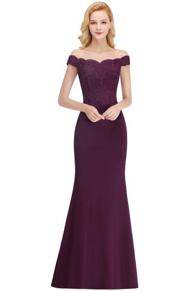 Mermaid Off-the-shoulder Long Appliques Bridesmaid Dress_4