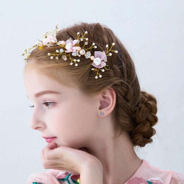 Flower Crystal Pearls Headbands_5
