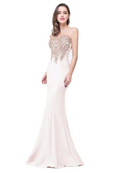 Mermaid Floor-Length Sheer Prom Dresses with Rhinestone Appliques_1