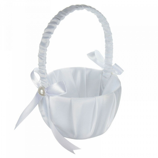 Satin Flower Basket With Bow_3