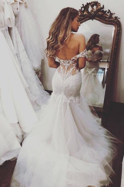 SD2080 Off Shoulder Lace Mermaid Wedding Dresses_7
