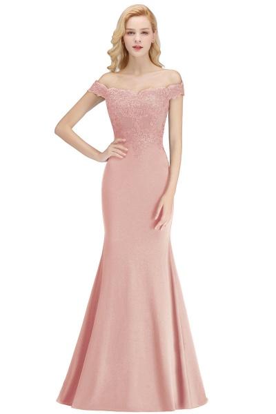 Mermaid Off-the-shoulder Long Appliques Bridesmaid Dress_3