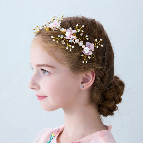 Flower Crystal Pearls Headbands_2