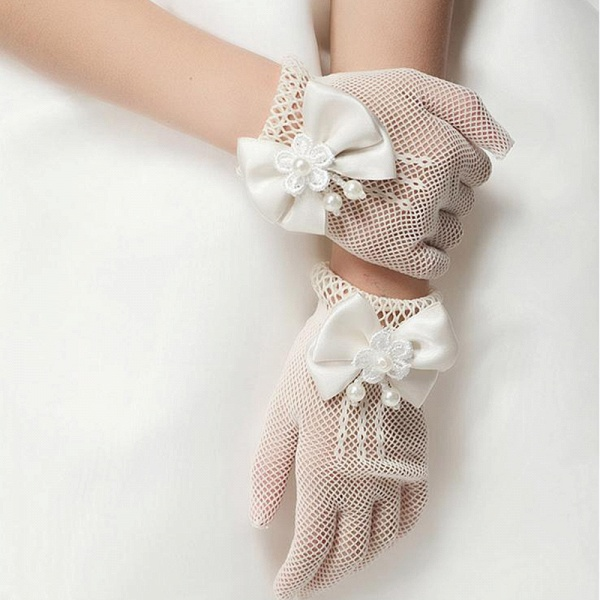 CPA2923 Flower Girl Tulle Golve With Bow_2