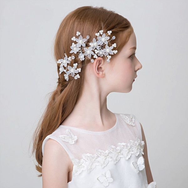 Pearls Crystal Flower Headbands