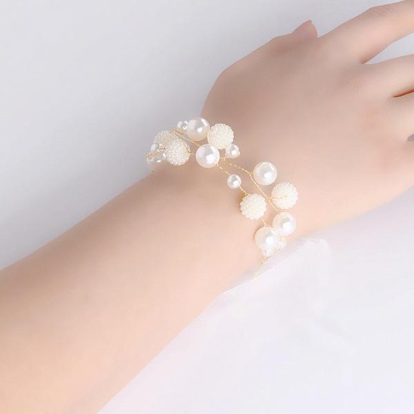 CPA2919 Pearls Ribbon Flower Girl Wristband_2