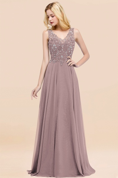 BM0324 Dusty Rose Lace V-Neck Long Bridesmaid Dresses With Appliques_37