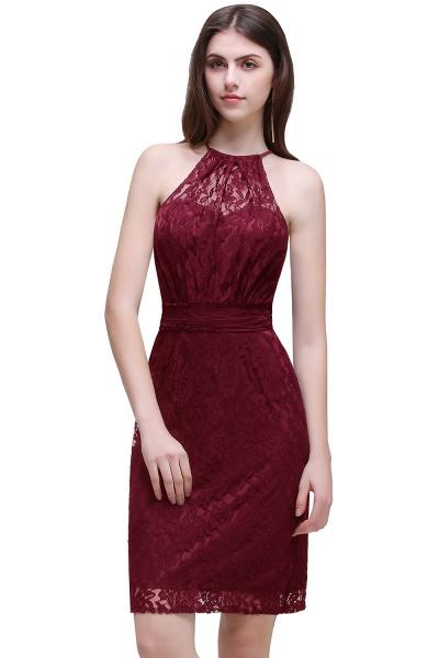 Amazing Halter Lace Column Homecoming Dress_1