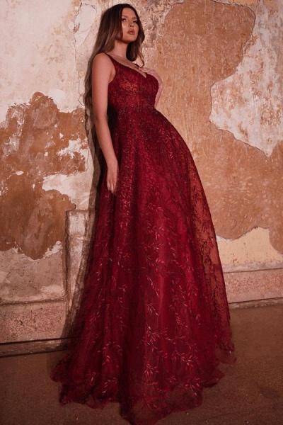 Shinny Long A-line Sweetheart Glitter Prom Dress_2