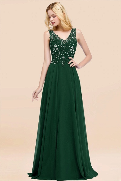 A-line Chiffon Appliques V-neck Sleeveless Floor-Length Bridesmaid Dresses with Crystals_31