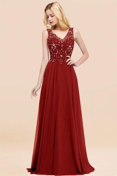 BM0324 Dusty Rose Lace V-Neck Long Bridesmaid Dresses With Appliques_48